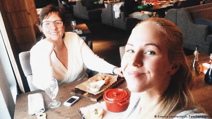 Yulia Yasyulevich in a selfie taken by Ksenia
