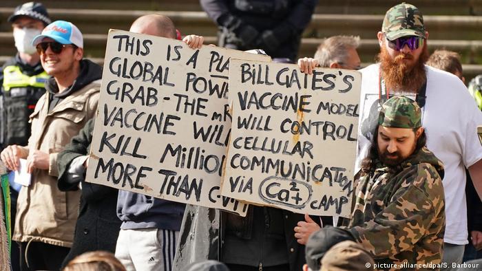 Противници на ваксинирането в Мелбърн, Австралия