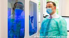 Coronavirus - Jens Spahn mit Gesichtsmaske