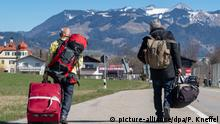 Coronavirus - Deutschland Österreich Grenzübergang zu Bayern