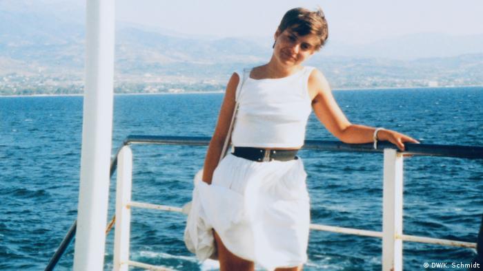 Kerstin on a ferry in Greece (DW/K. Schmidt)