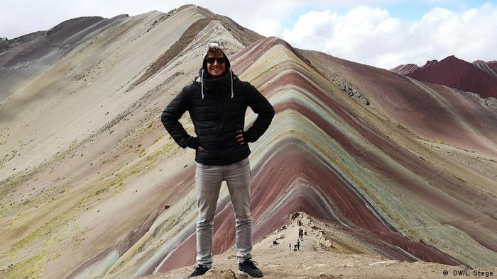 Lukas on the Vinicunca (Rainbow Mountain) in Peru( DW/L. Stege)