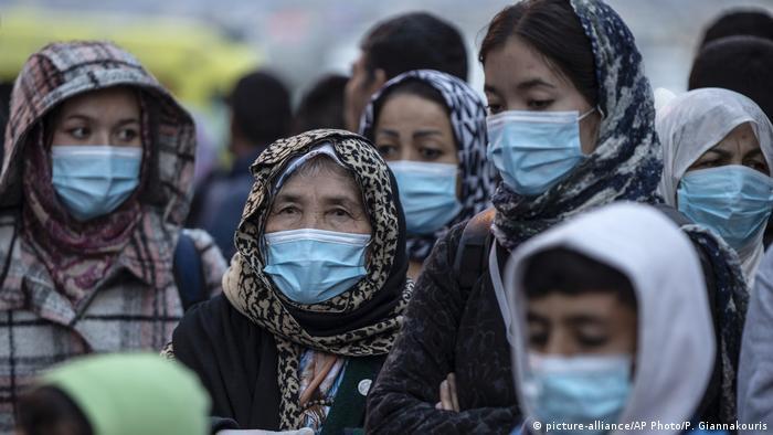 Ausbruch des Corona-Virus unter griechischen Migranten
