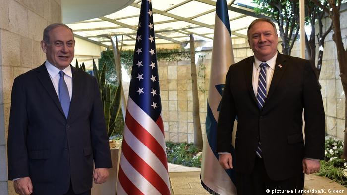 इस्राएल के प्रधानमंत्री बेन्यामिन नेतन्याहू से मिले अमेरिकी विदेश मंत्री माइक पोम्पेयो.