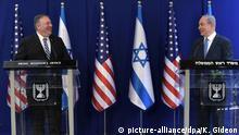 Israel Premierminister Netanjahu und US-Außenminister Pompeo