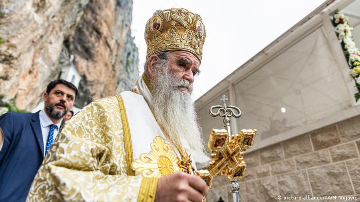 Montenegro | Ostrog Kloster | Coronavirus | Pilger (picture-alliance/AA/M. Vujovic)