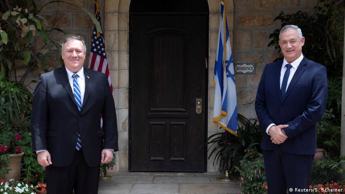 Israel | USA | Mike Pompeo | Benny Gantz (Reuters/S. Scheiner)