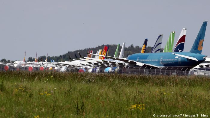 Planes at Lourdes airport in France