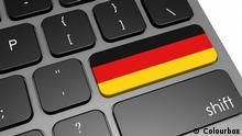 Germany keyboard image with hi-res rendered artwork that could be used for any graphic design.