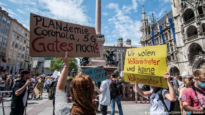 QAnon Protestors in Germany