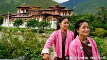 Bhutan | Bild 1b Phunaka Dzong mit Kindern