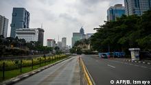 Indonesien Leere Straßen durch Corona | Jakarta