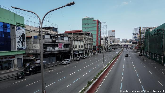 Philippinen Leere Straßen durch Corona | Manila (picture-alliance/AA/Dante Diosina JR)