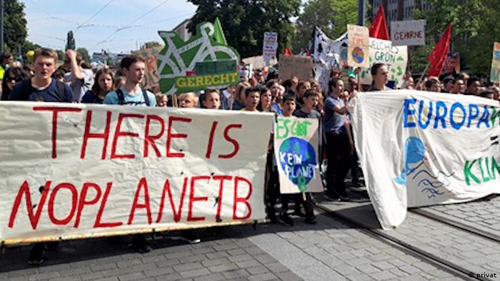 Aksi demo ridays for Future di Freiburg, Mei 2019