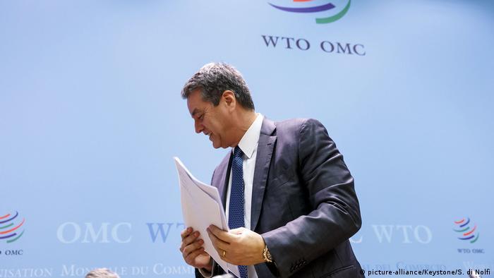 Roberto Azevedo, Dirjen WTO yang mengundurkan diri (picture-alliance/Keystone/S. di Nolfi)
