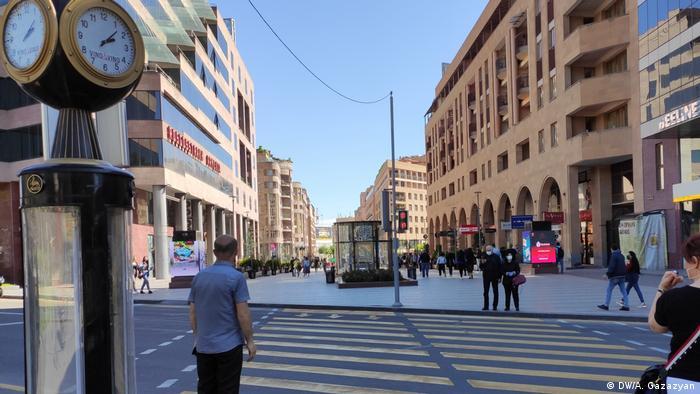 В центре Еревана