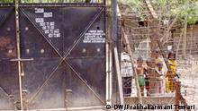 Gate to the villages in No man's Land in Malda district on Indi-Bangla Boarder who are not allwed to come out without permission of Boarder Security Force of India. Photo: Prabhakarmani Tewari / DW 16.4.2011