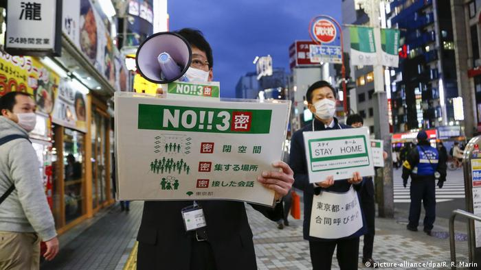 Japan Tokio Coronavirus Protest (picture-alliance/dpa/R. R. Marin)