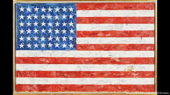 Jasper Johns Gemälde mit der US-Flagge (picture-alliance/dpa/EPA/Christies)