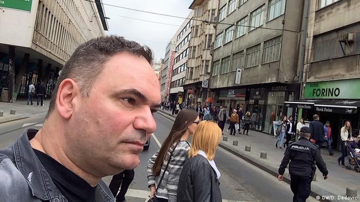 Dragoslav Dedović u Titovoj ulici u Sarajevu