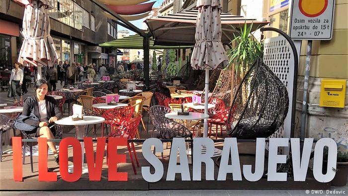 Bosnien und Herzegowina Sarajevo Fußgängerzone