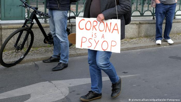 Demonstration against coronavirus in Berlin, Germany