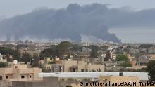Libyen Haftar Truppen Angriff Mitiga Airport in Tripolis