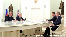Vladimir Putin, Alexey Miller und Rainer Seele