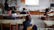 Wiedereröffnung Schulen - Klassenraum in Frankreich
