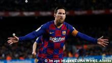 7.3.2020; Barcelonas; Spanien; Catalonia, Spain: March 7, 2020 - Camp Nou, Barcelona, Spain - LaLiga Santander- FC Barcelona, Barca v Real Sociedad Lionel Messi of FC Barcelona celebrates the 1-0. Barcelona Spain - ZUMAa178 20210307zapa178001 Copyright: xEricxAlonsox