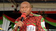 Agathon Rwasa, candidateof the Burundian main opposition party, CNL, to the May 20, 2020 presidential election.