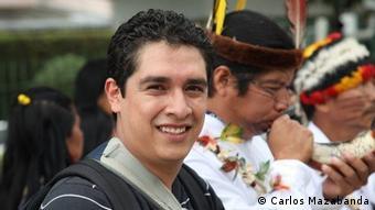 Carlos Mazabanda, coordinador para Ecuador de Amazon Watch,