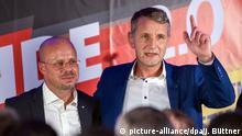 Deutschland AfD Andreas Kalbitz und Björn Höcke