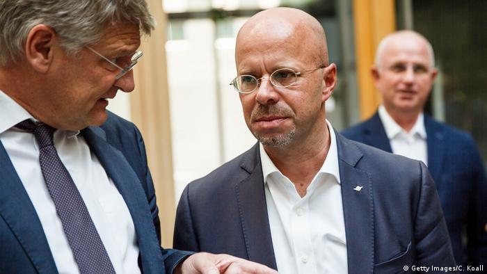 Jörg Meuthen (lijevo) i Andreas Kalbitz