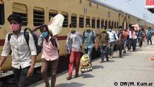 Indien Patna Coronavirus Gastarbeiter