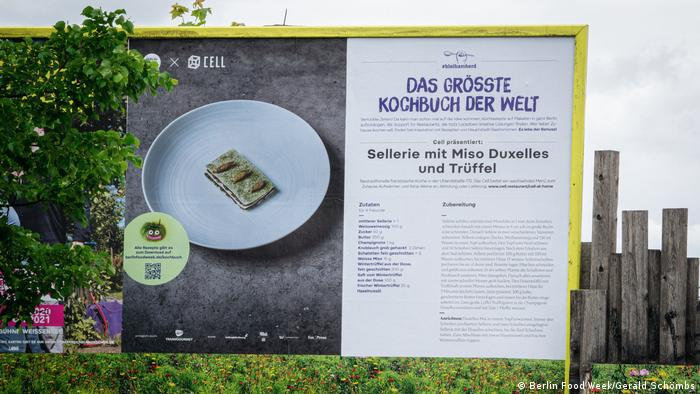 Poster of the Berlin Food Week 2020 - The World's Biggest Cookbook (Berlin Food Week/Gerald Schömbs)