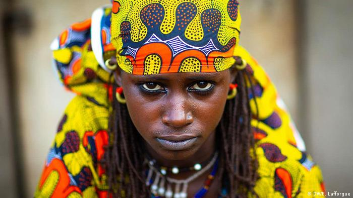 A Peul woman from Ivory Coast in traditional dress