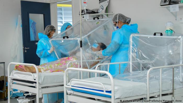 Paciente em hospital de Manaus