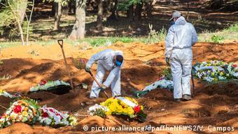 Кладбище в Бразилии, на котором роют могилы для потенциальных жертв коронавируса