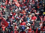 声势浩大的泰国红衫军