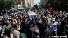 Iran Beerdigung von Asghar Pashapour in Teheran