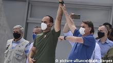 Coronavirus - Brasilien Bolsonaro & Sohn Protest Gerichtshof