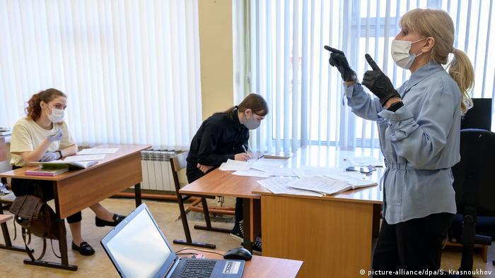 Escuela en Rusia durante la pandemia de SARS-CoV-2.