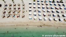 Griechenland Luftaufnahme vom Strand von Glyfada