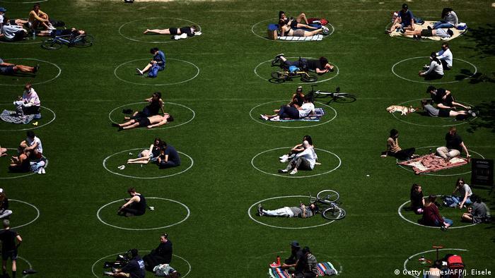 USA Coronavirus Park Brooklyn New York (Getty Images/AFP/J. Eisele)