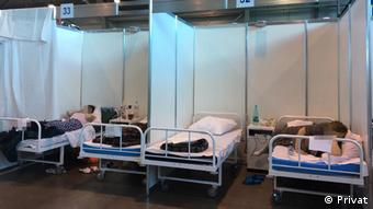 Мобильный госпиталь в выставочном комплексе Ленэкспо
