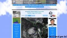 Screenshot live3.bmd.gov.bd Zyklon Amphan Bangladesch