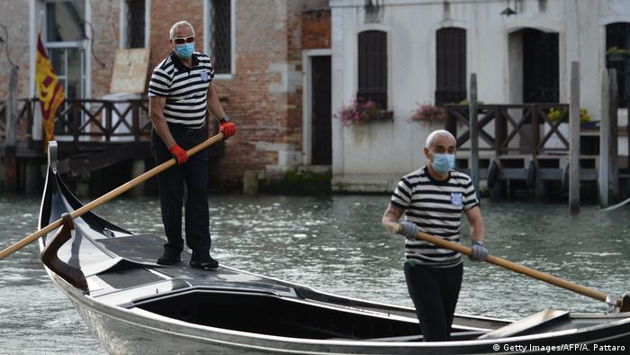 Italien Venedig | Lockerung der Corona-Regeln (Getty Images/AFP/A. Pattaro)