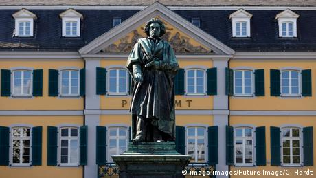 A statue of Beethoven in Bonn