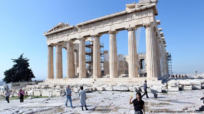 Griechenland Coronavirus Akropolis (picture-alliance/dpa/A. Vafeiadakis)